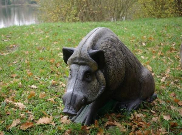 3D Tier sitzendes Wildschwein von NaturFoam