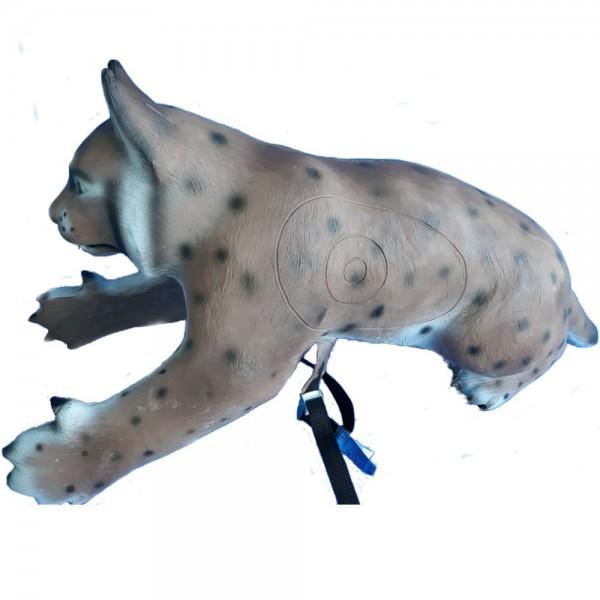 Center-Point 3D-Tier kletternder Luchs