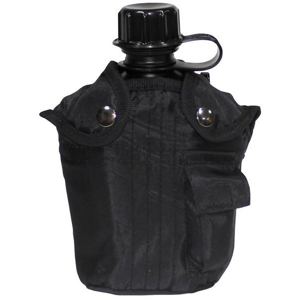 US Plastikfeldflasche schwarz