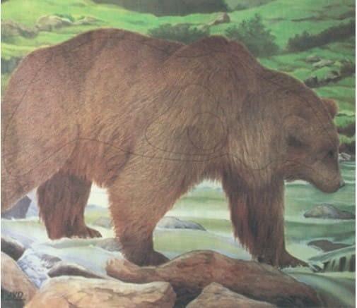 Tierbild-Scheibenauflage Bär