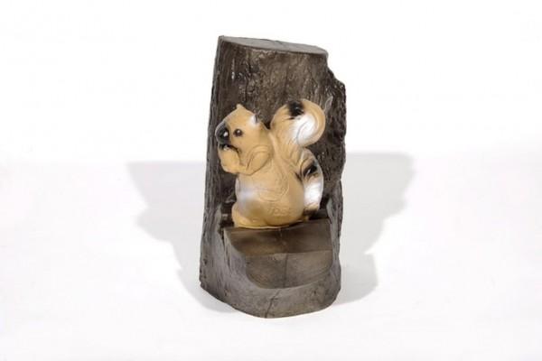 3D-Ziel Eichhörnchen mit Backstopp