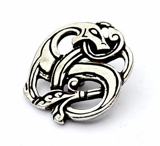 Wikinger-Amulett-Drache-silber