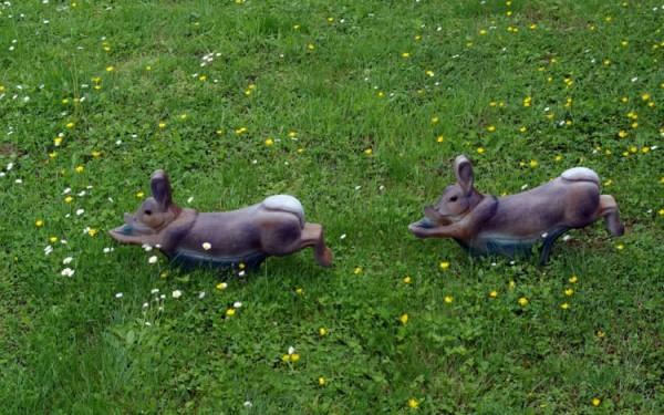 3D-Ziel NaturFoam Kaninchen rennend