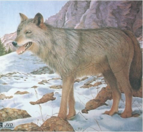 Tierbild-Scheibenauflage Wolf