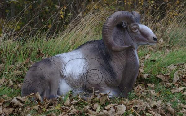 3D-Tier NaturFoam liegendes Mufflon