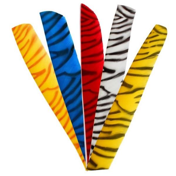 Naturfeder volle Länge zebra