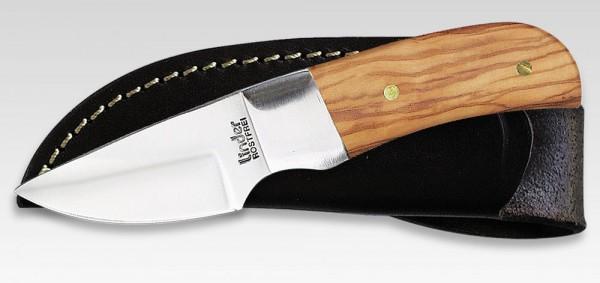 kleines Jagdmesser mit Olivenholzschalen Linder 440405