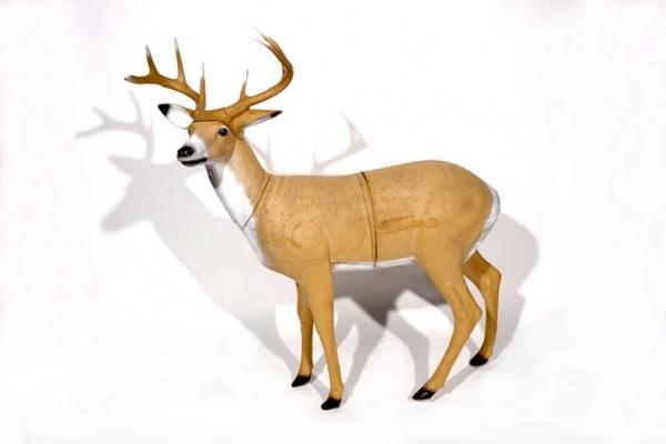 3D-Tier Franzbogen Weisswedelhirsch stehend
