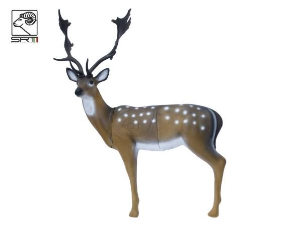 3D Tier stehender Damhirsch