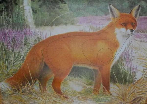 Tierbild-Scheibenauflage Fuchs