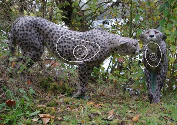 3D-Ziel stehender Gepard von NaturFoam