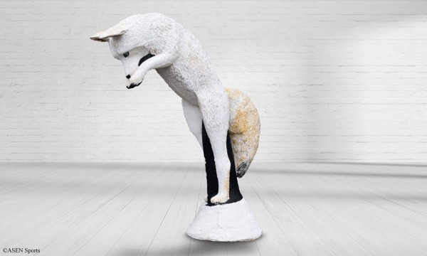 3D-Tier-Asen-Sports-Wildcrete-Polarfuchs-springend