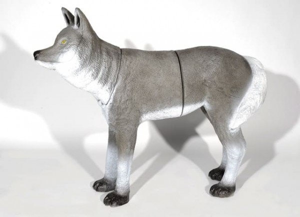 3D Ziel Franzbogen Wolf stehend