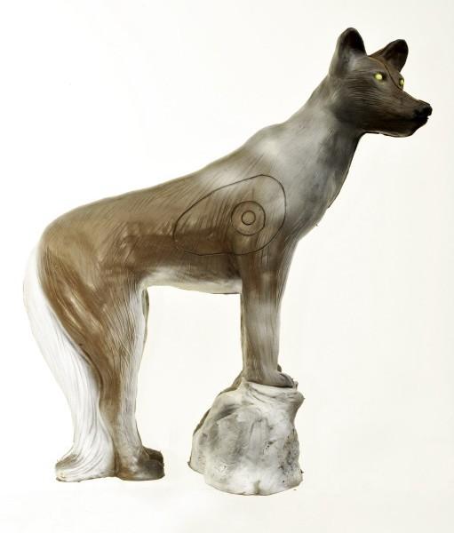 Leitold Wolf auf Stein