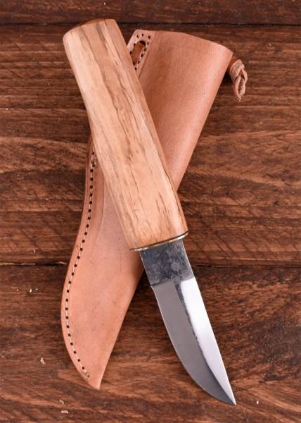Mittelaltermesser mit Holzgriff und Lederscheide